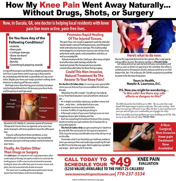 Chronic Pain Dacula GA Cold Laser